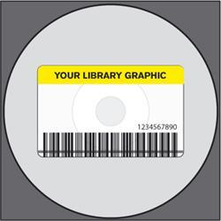 RFID hybrid label 50x80/Ø117 acetate COLOURED w/print w