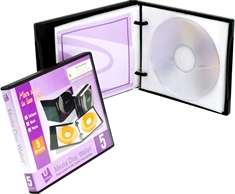 UniKeep Media 5 CD/DVD boks med ringsystem