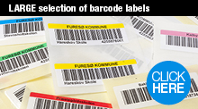 View our big selection of Barcode labels