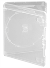 Amaray Blu-ray DVD case 15 mm for 1 disc, CLEAR PP